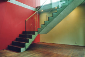 Glass staircase, private adjoining houses