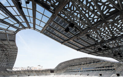 Special parts for structural support, Jean Bouin stadium