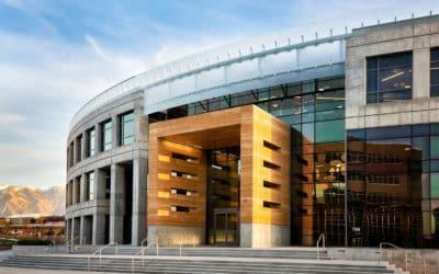 Glass facade, Peace Coliseum headquarter