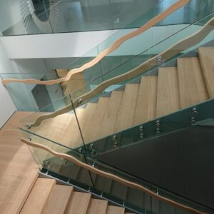 Office glass stair railing