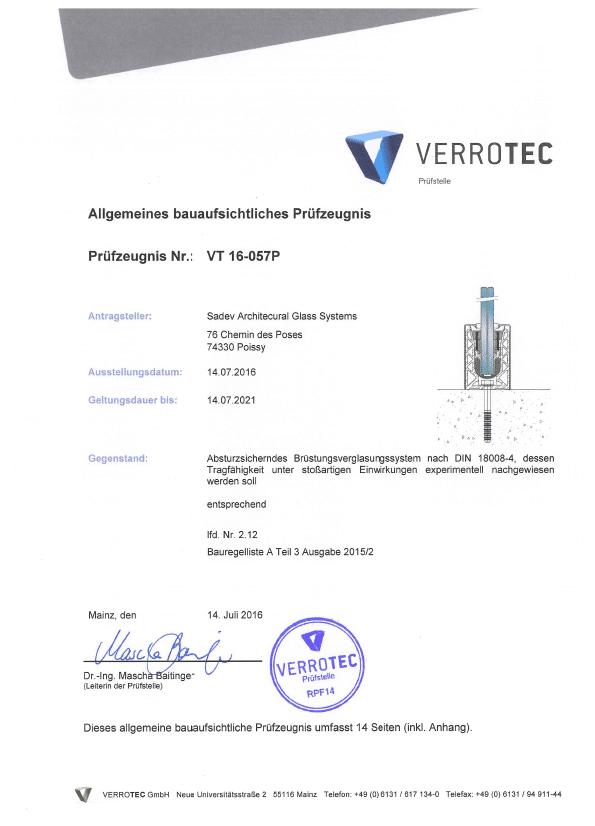 Sabco Certificat Abp