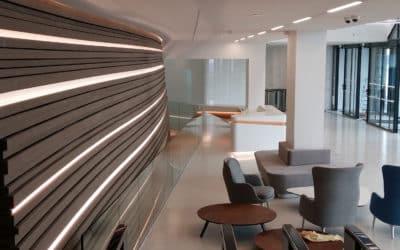 Glass balustrades, Metropolitan hotel
