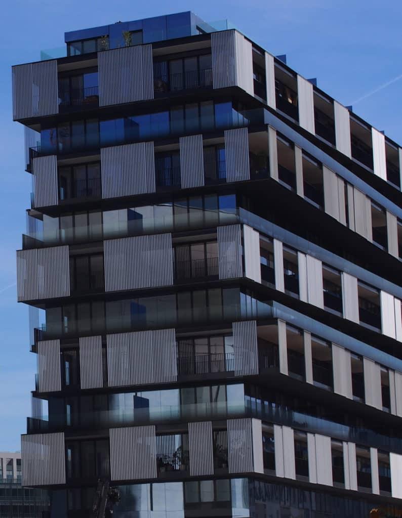 Glass balconies, One Building