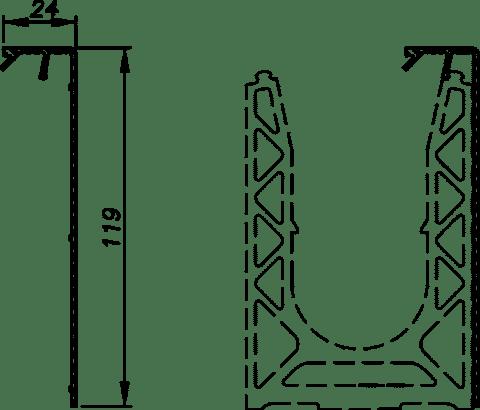 Capots pour garde-corps en verre SABCO, pose en latéral