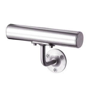 Fixed handrail bracket for glass balustrades