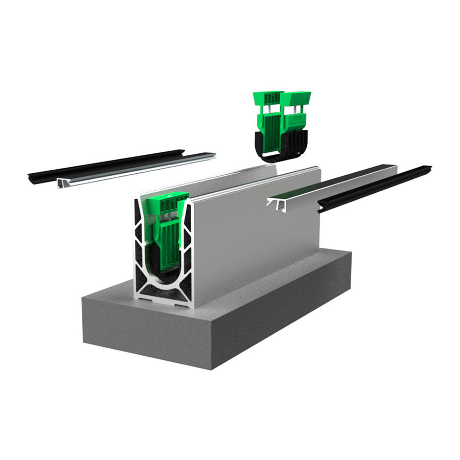 Garde-corps verre SABCO montage au sol - fonction balustrade - application privé et public - De 0,6 à 1,8 KN