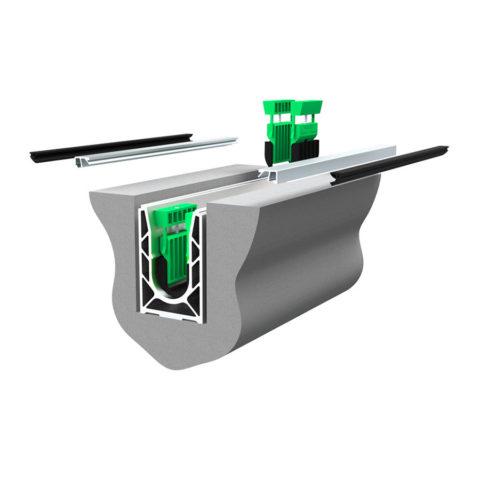 Garde-corps verre SABCO montage encastré - fonction balustrade - application privé et public - De 0,6 à 1,8 KN