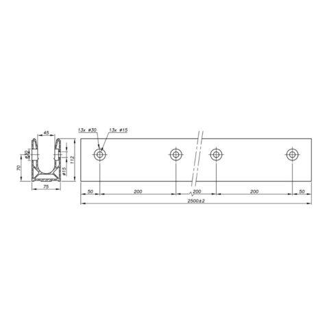 Garde-corps verre SABCO montage latéral - fonction balustrade - application privé et public - De 0,6 à 1,8 KN
