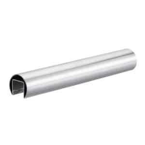 Main courante pour garde-corps en verre fond de gorges ø 42,4 mm - profile tube rond inox 304, 316