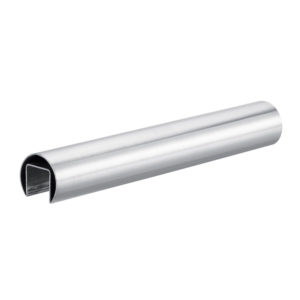 Handrail for glass balustrades ø 48,3 mm tube with slot for glass - stainless steel AISI 304, 316round tube profile