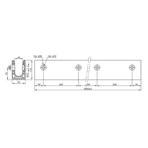 Garde-corps verre SABCO montage lateral - fonction balustrade - application public - avis technique - De 1,8 à 3 KN