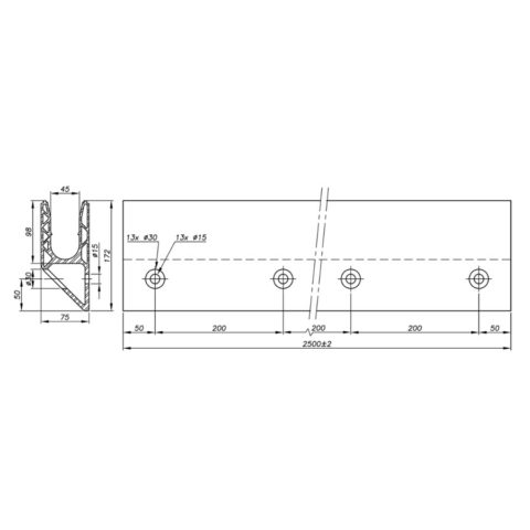 Garde-corps verre SABCO montage fixation déportée - fonction balustrade - De 1,8 à 3 KN