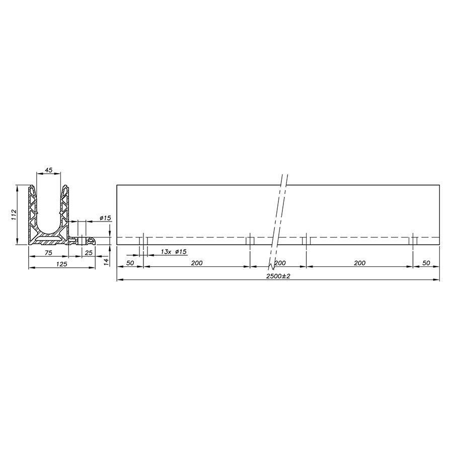 Garde-corps verre SABCO montage au sol déporté - fonction balustrade - De 1,8 à 3 KN