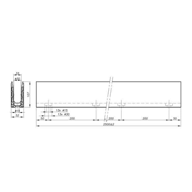 Garde-corps verre SABCO montage acrotère - fonction balustrade - application privée et publique - encombrement réduit - De 0,6 à 3 KN-4