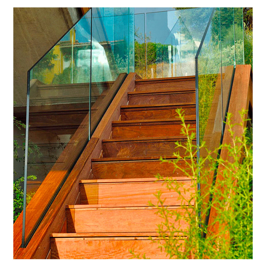 SABCO Frameless glass balustrade, built-in-slab - rrailing function - private, residential and public, commercial application - From 0.6 to 3 KN