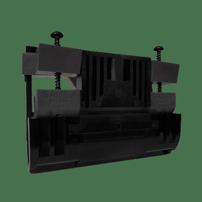 sabco one side 2.0 black glass balustrade wedges