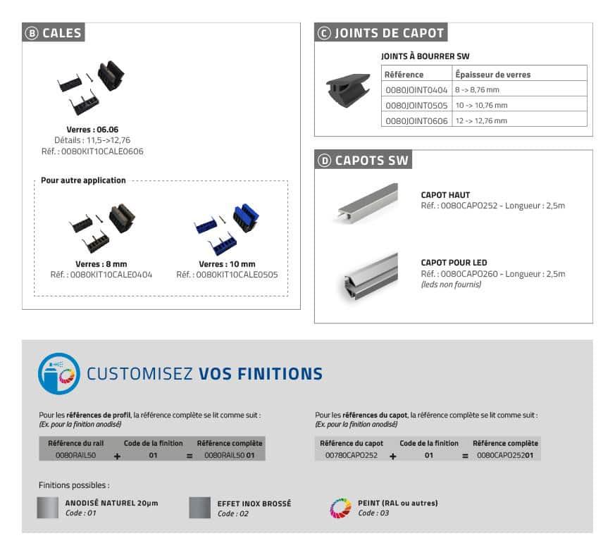 Garde-corps verre SABCO montage acrotère - fonction balustrade - application privée et publique - encombrement réduit - De 0,6 à 3 KN