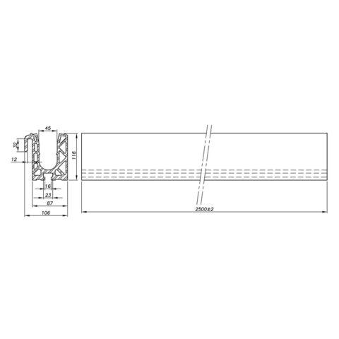 Garde-corps verre SABCO montage sur équerre - fonction balustrade - application stade et haute performance - De 3 à 9 KN