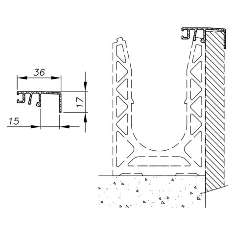 Cladding for Sabco glass balustrade vertical insertion - Thickness 3 - Thickness 10 - Thickness 15 - Thickness 20
