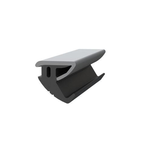 Joint de protection pour garde-corps en verre SABCO - double side gris