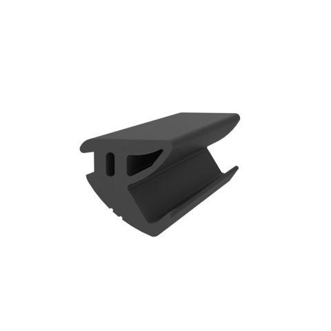 Joint de protection pour garde-corps en verre SABCO - double side noir