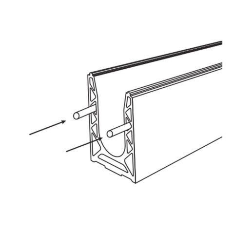 Glass railing profile alignment pin - for SABCO Original and X rail