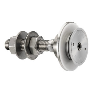 Swivel fitting - rotule - for structural bolted glass - countersunk head - for installation from the outside - technical evaluation - seismic option available