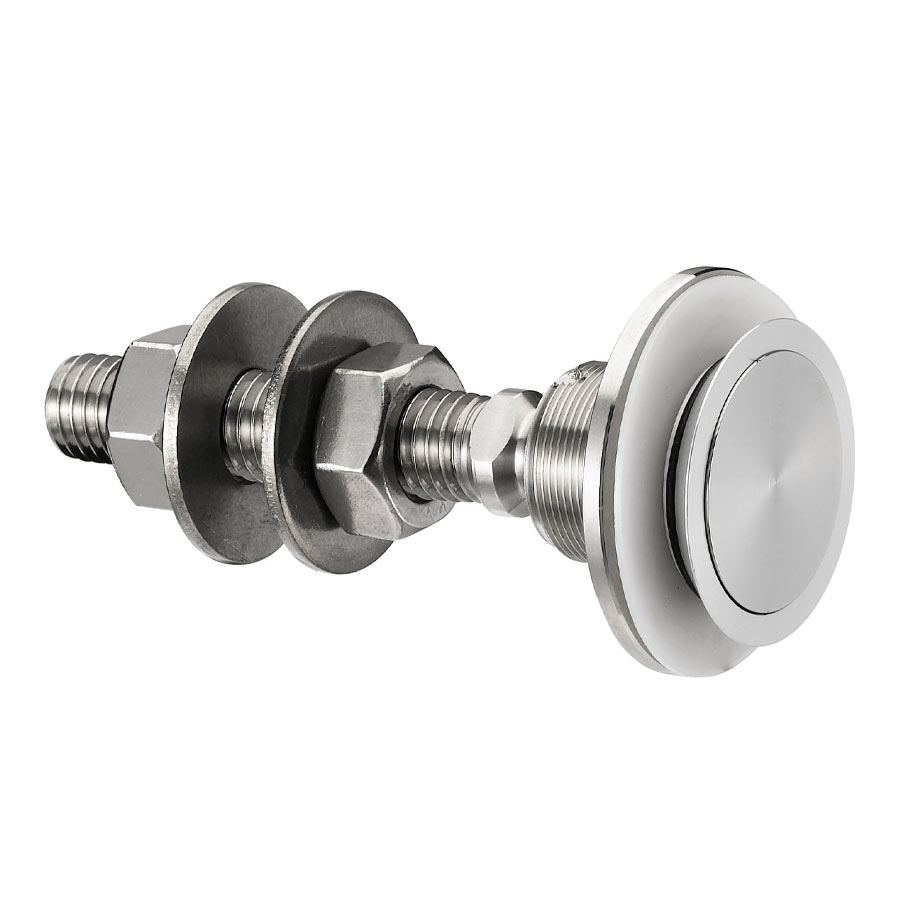 Swivel fitting - rotule - for structural bolted glass - countersunk head - technical evaluation