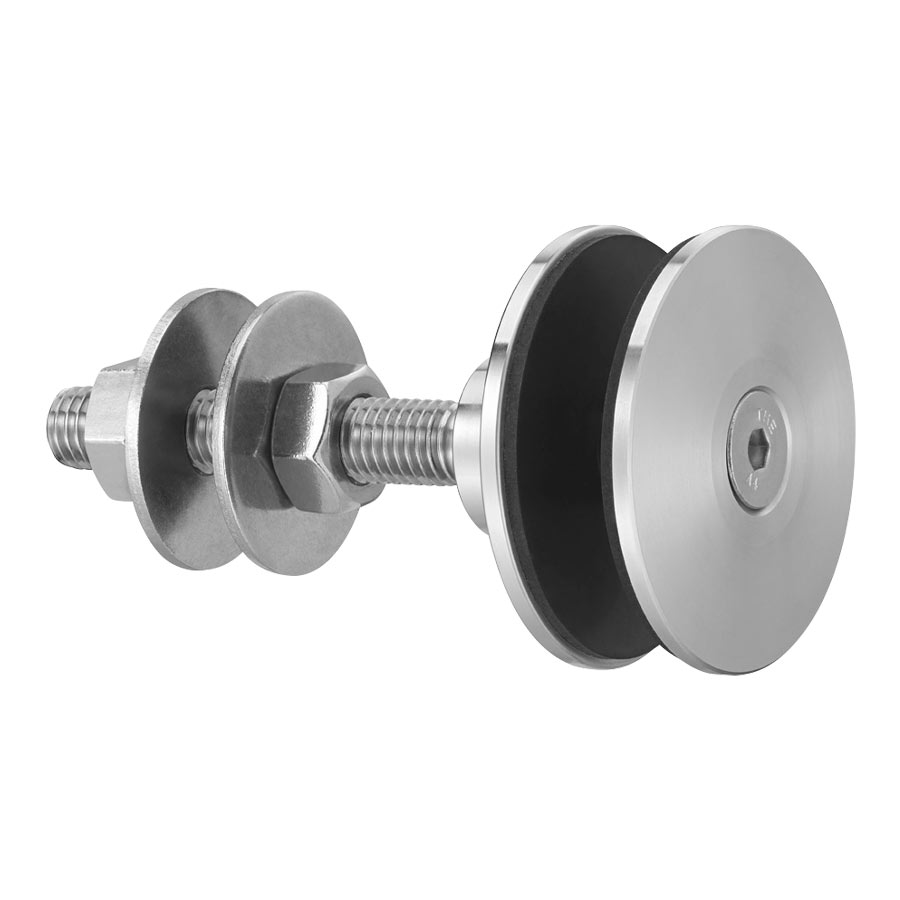 Swivel fitting - rotule - for structural bolted glass - cylindrical head - for installation from the outside - Ø16 mm drilling
