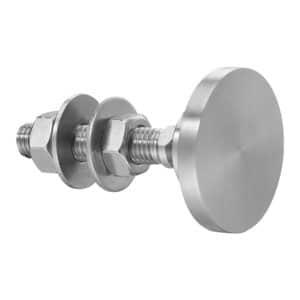 Fixation VEA rotulée tête cylindrique ø60 mm pour collage UV / TSSA sur vitrage