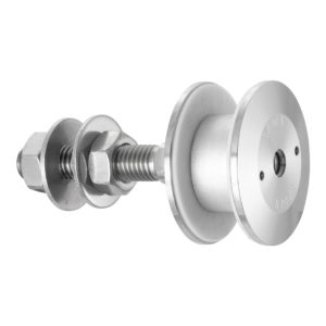 Swivel fitting - rotule - for structural bolted glass - cylindrical head - for installation from the outside - technical evaluation