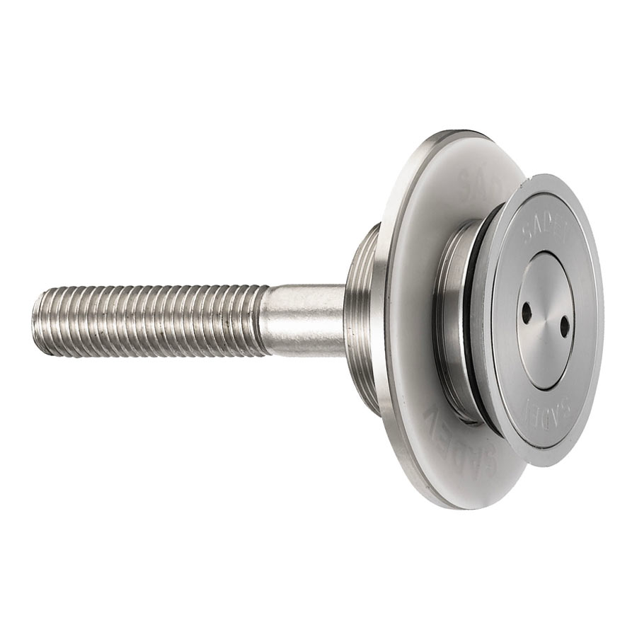Fixed bolt for structural bolted glass - countersunk head - for installation from the outside - bracket mounting