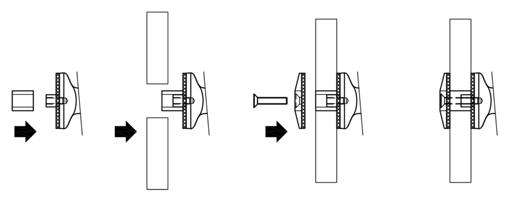 Spider Fitting - Stainless Steel - Connection for Glass - Two Arms
