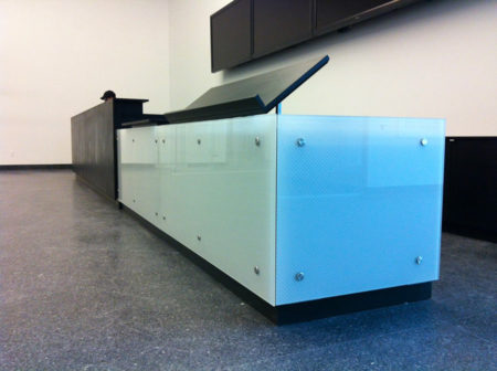 Stainless steel wall points for various applications: reception desks, wall cladding, signage, door handles - fixed or adjustable