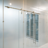 Sliding system for glass doors
