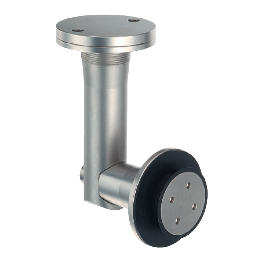 Cylindrical corner joints for two pieces of glass or a wall and a glass to be joined together - angle adaptable to the building site RV-02-24-27-dt