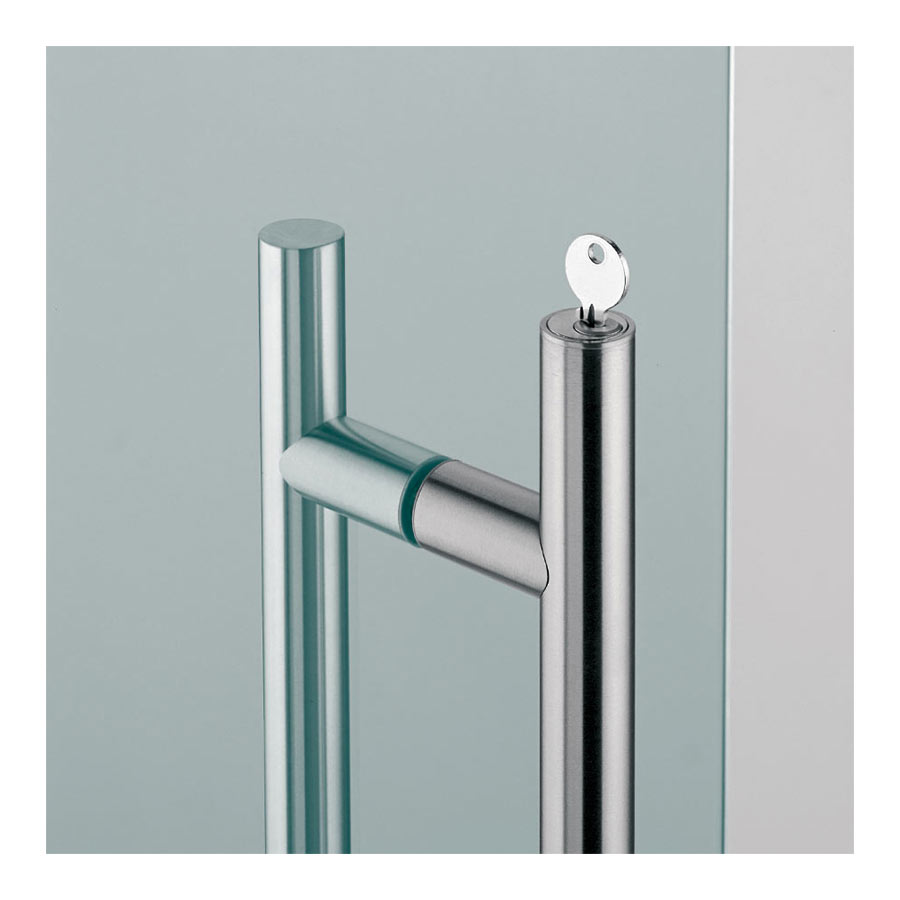 Modern handles in 316 Stainless Steel - Top and Bottom Lock