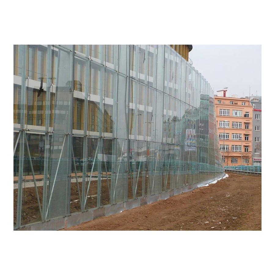 Attache pincée inox pour façade en verre - deux branches  - inox 316
