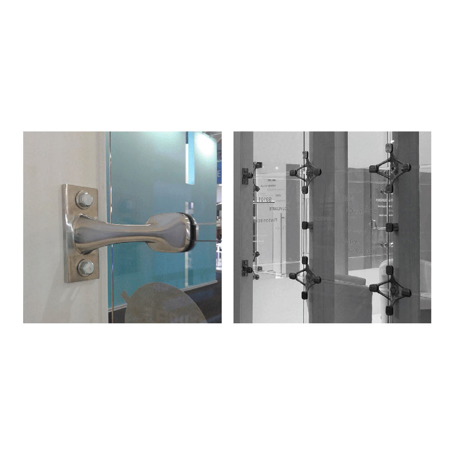 Spider Fitting - Stainless Steel - Glass to Wall Applications - One or Four Arms