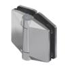 Self-closing hinge glass/glass, for swimming pool gates, respecting the swimming pool standard