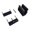 Cales fixation du garde-corps en verre SABCO SW - serrage des deux côtés