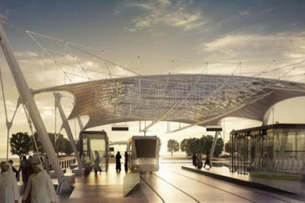 SADEV-Special-parts-for-tie-rods-structure_Pieces-spéciales-pour-fixation-structure-cable-Doha-Education-City