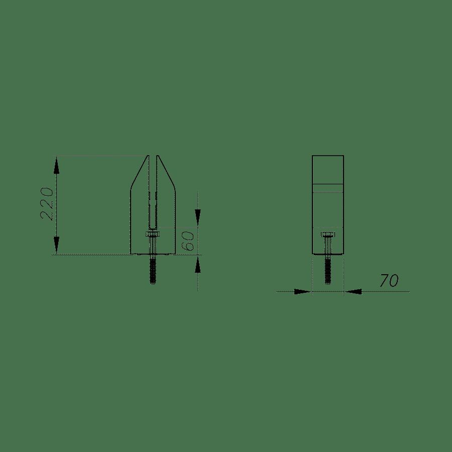 Spigot INO de piscine fixation ponctuelle pour barrières et protection de piscine en verre-3