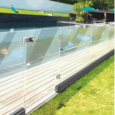 swimside charniere portillon barriere de piscine verre hinges glass pool gate