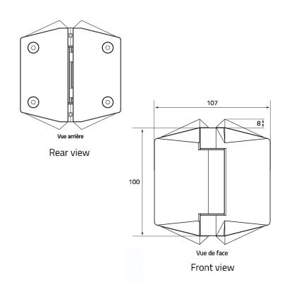 charniere portillon verre verre brosse brushed pool hinge glass to glass dessin 120 gtog 1
