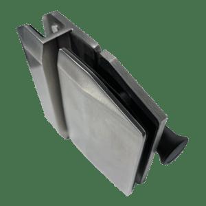 Serrure/gâche de sécurité verre/verre 180° pour portillon de piscine