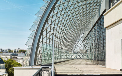 Structure for glass flake roof – Haussmann Boulevard