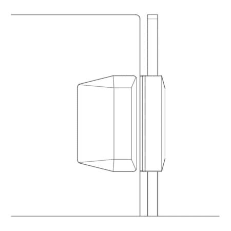 Serrure/gâche de sécurité verre/verre 90° pour portillon de piscine4