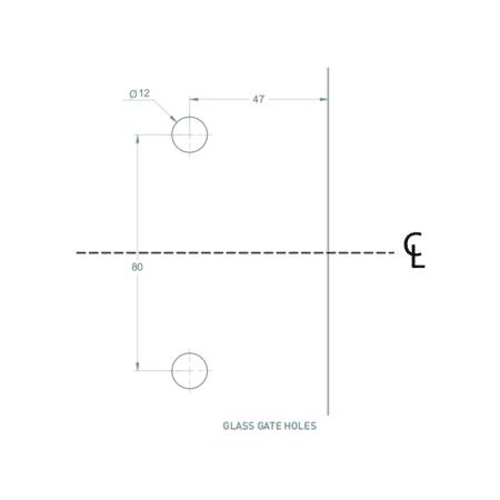 Serrure/gâche de sécurité verre/verre 90° pour portillon de piscine5