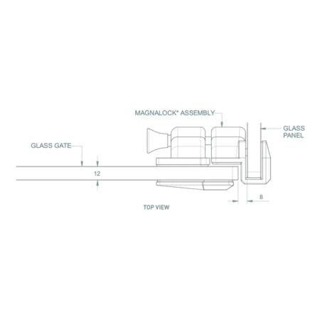 Serrure/gâche de sécurité verre/verre 90° pour portillon de piscine6